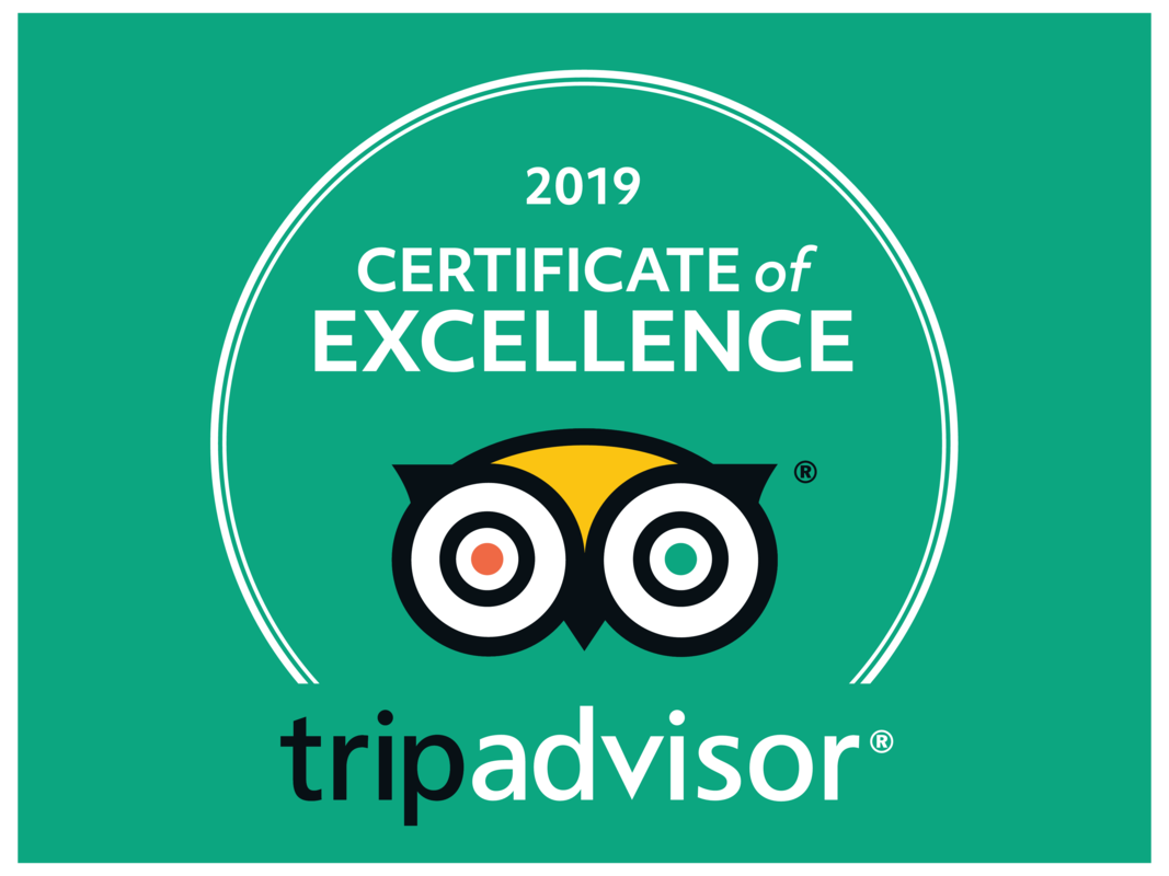 TripAdvisor Certificate of Excellence 2020